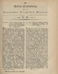Gesetz-Sammlung für die Königlichen Preussischen Staaten, 8. Juni, 1865, nr. 21.
