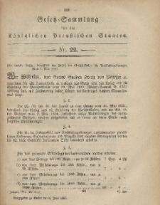 Gesetz-Sammlung für die Königlichen Preussischen Staaten, 8. Juni, 1865, nr. 22.