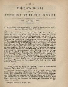 Gesetz-Sammlung für die Königlichen Preussischen Staaten, 29. Juni, 1865, nr. 25.