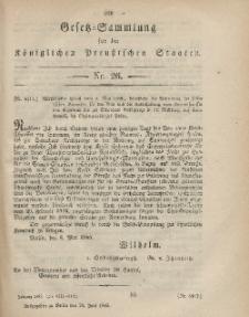 Gesetz-Sammlung für die Königlichen Preussischen Staaten, 29. Juni, 1865, nr. 26.