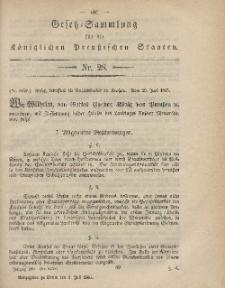 Gesetz-Sammlung für die Königlichen Preussischen Staaten, 8. Juli, 1865, nr. 28.