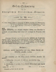 Gesetz-Sammlung für die Königlichen Preussischen Staaten, 28. Juli, 1865, nr. 32.