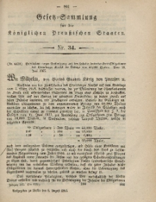 Gesetz-Sammlung für die Königlichen Preussischen Staaten, 8. August, 1865, nr. 34.