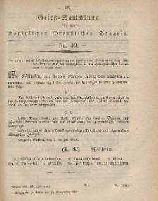 Gesetz-Sammlung für die Königlichen Preussischen Staaten, 13. September, 1865, nr. 40.