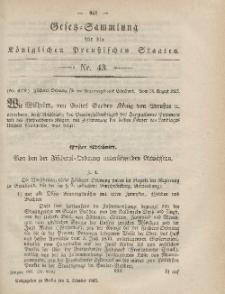 Gesetz-Sammlung für die Königlichen Preussischen Staaten, 2. Oktober, 1865, nr. 43.