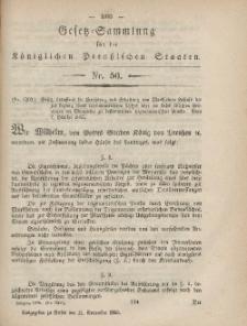 Gesetz-Sammlung für die Königlichen Preussischen Staaten, 11. November, 1865, nr. 50.
