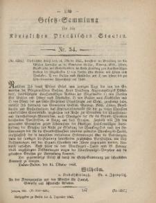 Gesetz-Sammlung für die Königlichen Preussischen Staaten, 5. Dezember, 1865, nr. 54.