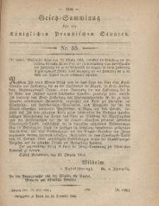 Gesetz-Sammlung für die Königlichen Preussischen Staaten, 14. Dezember, 1865, nr. 55.