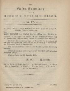 Gesetz-Sammlung für die Königlichen Preussischen Staaten, 31. Dezember, 1865, nr. 57.