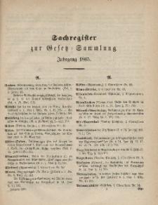 Gesetz-Sammlung für die Königlichen Preussischen Staaten (Sachregister), 1865