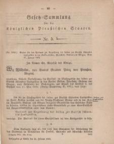 Gesetz-Sammlung für die Königlichen Preussischen Staaten, 21. Februar, 1859, nr. 5.