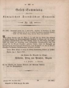 Gesetz-Sammlung für die Königlichen Preussischen Staaten, 12. Mai, 1859, nr. 13.