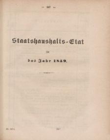 Gesetz-Sammlung für die Königlichen Preussischen Staaten, (Staatshaushalts-Etat füf das Jahr 1859)