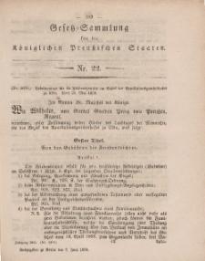 Gesetz-Sammlung für die Königlichen Preussischen Staaten, 7. Juni, 1859, nr. 22.