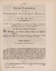 Gesetz-Sammlung für die Königlichen Preussischen Staaten, 7. Juli, 1859, nr. 24.