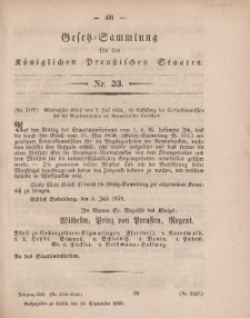 Gesetz-Sammlung für die Königlichen Preussischen Staaten, 13. September, 1859, nr. 33.