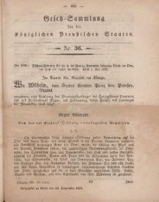 Gesetz-Sammlung für die Königlichen Preussischen Staaten, 30. September, 1859, nr. 36.