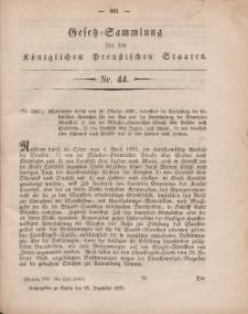 Gesetz-Sammlung für die Königlichen Preussischen Staaten, 15. Dezember, 1859, nr. 44.