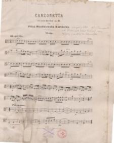 Canzonetta aus dem Quartett. Op. 12 von Felix Mendelssohn Bartholdy : Viola