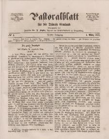 Pastoralblatt für die Diözese Ermland, 3.Jahrgang, 1. März 1871, Nr 5.
