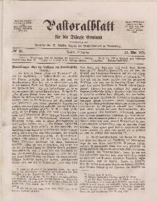 Pastoralblatt für die Diözese Ermland, 3.Jahrgang, 16. Mai 1871, Nr 10.