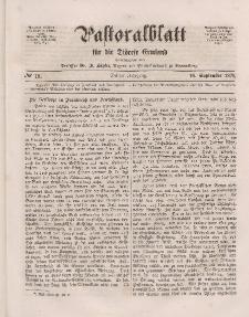 Pastoralblatt für die Diözese Ermland, 3.Jahrgang, 16. September 1871, Nr 18.