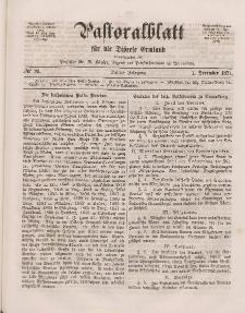 Pastoralblatt für die Diözese Ermland, 3.Jahrgang, 1. Dezember 1871, Nr 23.