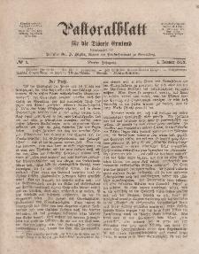 Pastoralblatt für die Diözese Ermland, 4.Jahrgang, 1. Januar 1872, Nr 1.