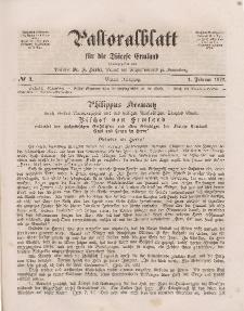 Pastoralblatt für die Diözese Ermland, 4.Jahrgang, 1. Februar 1872, Nr 3.