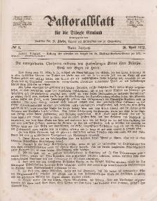 Pastoralblatt für die Diözese Ermland, 4.Jahrgang, 16. April 1872, Nr 8.