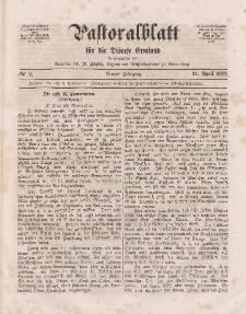 Pastoralblatt für die Diözese Ermland, 4.Jahrgang, 24. April 1872, Nr 9.