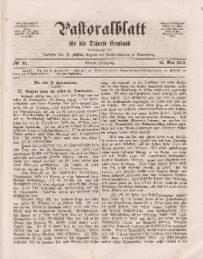 Pastoralblatt für die Diözese Ermland, 4.Jahrgang, 16. Mai 1872, Nr 10.