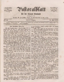 Pastoralblatt für die Diözese Ermland, 4.Jahrgang, 16. Juni 1872, Nr 12.