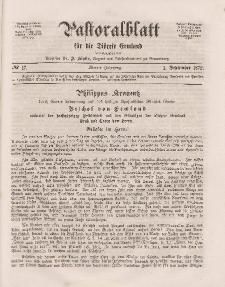 Pastoralblatt für die Diözese Ermland, 4.Jahrgang, 1. September 1872, Nr 17.