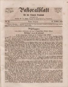 Pastoralblatt für die Diözese Ermland, 4.Jahrgang, 16. Oktober 1872, Nr 20.