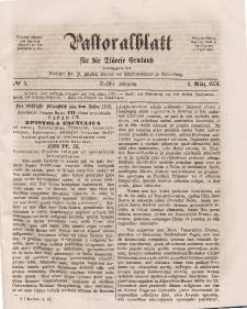 Pastoralblatt für die Diözese Ermland, 6.Jahrgang, 1. März 1874, Nr 5.
