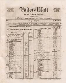 Pastoralblatt für die Diözese Ermland, 6.Jahrgang, 1. Mai 1874, Nr 9.