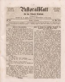 Pastoralblatt für die Diözese Ermland, 6.Jahrgang, 16. Mai 1874, Nr 10.