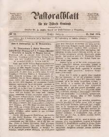 Pastoralblatt für die Diözese Ermland, 6.Jahrgang, 16. Juni 1874, Nr 12.