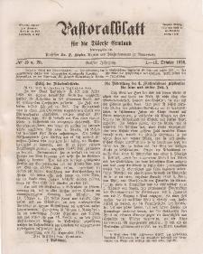 Pastoralblatt für die Diözese Ermland, 6.Jahrgang, 1-16. Oktober 1874, Nr 19 u.20