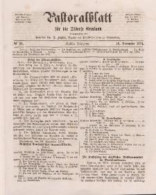 Pastoralblatt für die Diözese Ermland, 6.Jahrgang, 16. Dezember 1874, Nr 24.