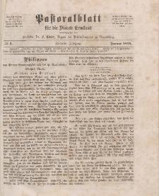 Pastoralblatt für die Diözese Ermland, 7.Jahrgang, Januar 1875, Nr 1.