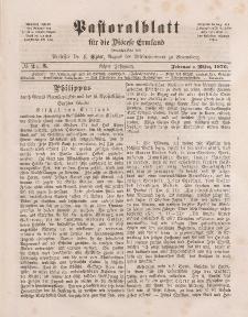 Pastoralblatt für die Diözese Ermland, 8.Jahrgang, Februar und März 1876, Nr 2, 3.