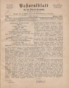 Pastoralblatt für die Diözese Ermland, 11.Jahrgang, 1. Februar 1879. Nr 2