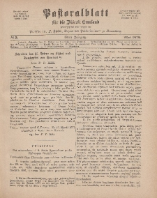 Pastoralblatt für die Diözese Ermland, 11.Jahrgang, 1. Mai 1879. Nr 5