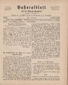 Pastoralblatt für die Diözese Ermland, 11.Jahrgang, 1. Oktober 1879. Nr 10