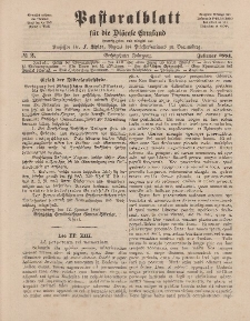 Pastoralblatt für die Diözese Ermland, 16.Jahrgang, 1. Februar 1884. Nr 2