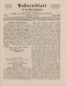 Pastoralblatt für die Diözese Ermland, 16.Jahrgang, 1. April 1884. Nr 4