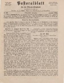 Pastoralblatt für die Diözese Ermland, 16.Jahrgang, 1. Oktober 1884. Nr 10