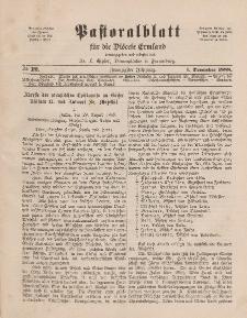 Pastoralblatt für die Diözese Ermland, 20.Jahrgang, 1. Dezember 1888. Nr 12